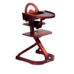 Svan High Chair with Infant Kit in Mahogany w. Tray Cover