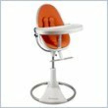 Bloom White Fresco Loft Plastic Baby Chair in Harvest Orange