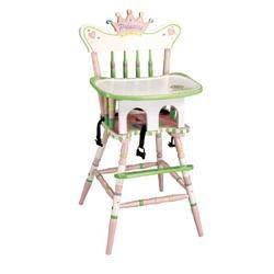 Teamson Kids Sunny Safari Hand Painted Princess Wood Baby High Chair
