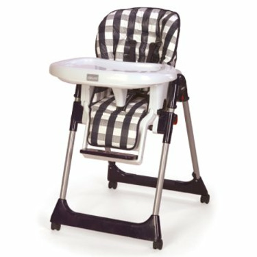 Chicco Mamma High Chair - White Checks