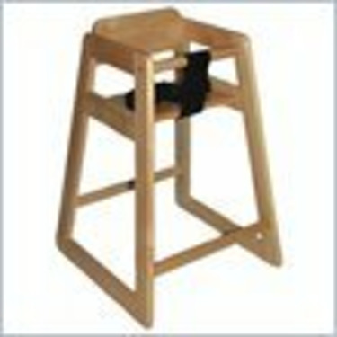 Early Childhood Resources Stackable Kids Wood Toddler Highchair in Natural Finish