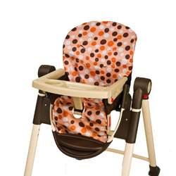 Wupzey Highchair Seat Cover - waterproof Orange Polka dot