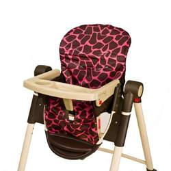 Wupzey Highchair Seat Cover - waterproof Pink Giraffe