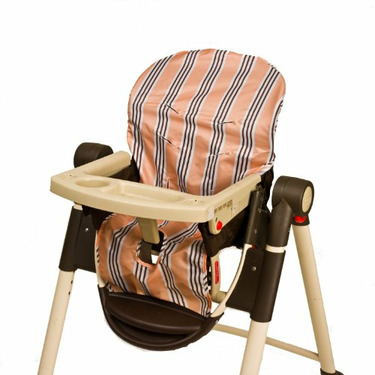Wupzey Highchair Seat Cover - waterproof Orange Stripe