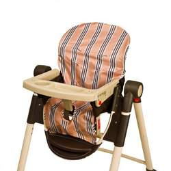 Wupzey Highchair Seat Cover - waterproof Orange Stripe
