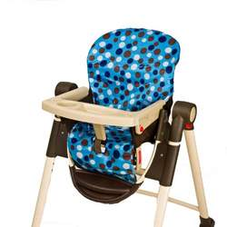 Wupzey Highchair Seat Cover - waterproof Blue Polka Dot