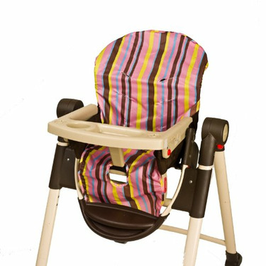 Wupzey Highchair Seat Cover - waterproof Pink Stripe