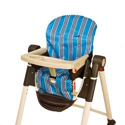 Wupzey Highchair Seat Cover - waterproof Blue Stripe