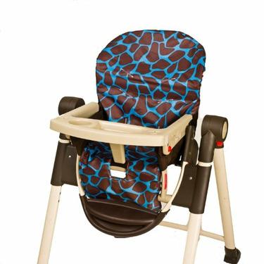 Wupzey Highchair Seat Cover - waterproof Blue Giraffe