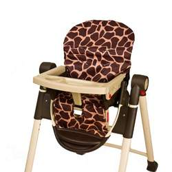 Wupzey Highchair Seat Cover - waterproof Orange Giraffe
