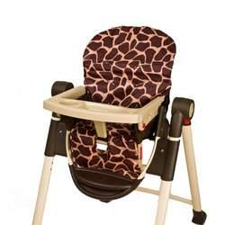 Wupzey Highchair Seat Cover - waterproof Orange Giraffe