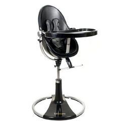 bloombaby Black Fresco Loft Highchair in Leatherette Midnight Black