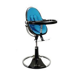 bloombaby Black Fresco Loft Highchair in Bermuda Blue