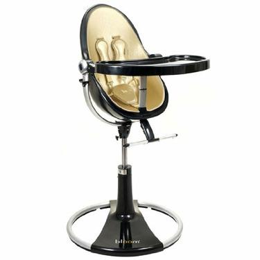 bloombaby Black Fresco Loft Highchair in Solar Gold