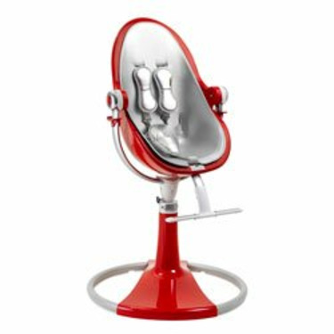 LIMITED EDITION BloomBaby Fresco Loft Fiamma Red High Chair with Silver Seat