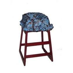 Cocoa Blue Paisley Restaurant High Chair Cover