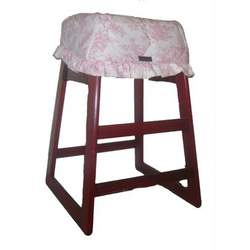 Pink Toile Restaurant High Chair Cover