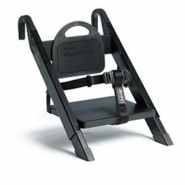 HandySitt Folding Booster Chair in Solid Black