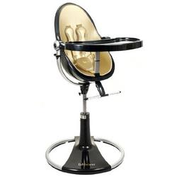 Bloom Fresco Loft High Chair - Ebony with Solar Gold (Leatherette) Seat Pad