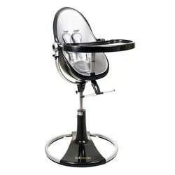 fresco loft highchair by bloom black frame - lunar silver (leatherette) NEW Edition!