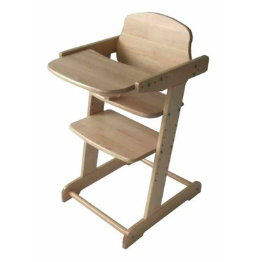 Futura High Chair Natural Finish, by Kettler