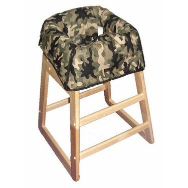 Green Camo Restaurant High Chair Cover