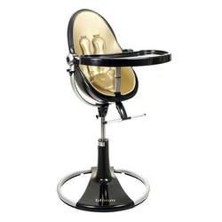 fresco loft highchair by bloom black frame - solar gold (leatherette) NEW Edition!