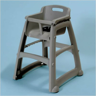 Sturdy High Chair without Wheels Color: Black