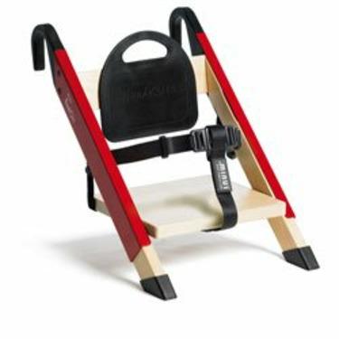 HandySitt Folding Booster Chair in Birch, Red and Black