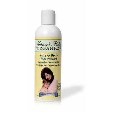 Nature's Baby Organics Organic Face and Body Moisturizer, Fragrance Free, 8-Ounce Bottles (Pack of 2)