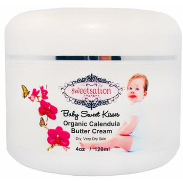 Baby Sweet Kisses, Organic Calendula Baby Butter Cream, 4oz