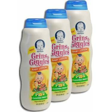 Gerber Grins & Giggles Baby Lotion - Cucumber Melon
