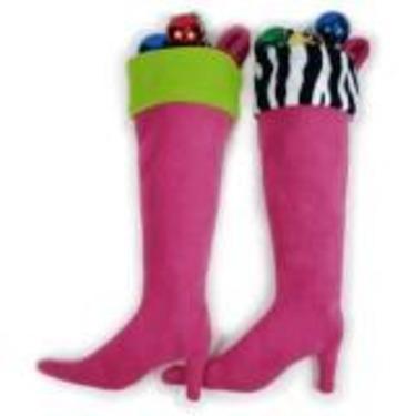 High Heel Boot Holiday Stocking