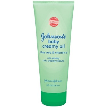 Johnson & Johnson Johnson's Baby Creamy Oil Aloe & Vitamin E, 8-Fluid Ounces Tubes (Pack of 6)