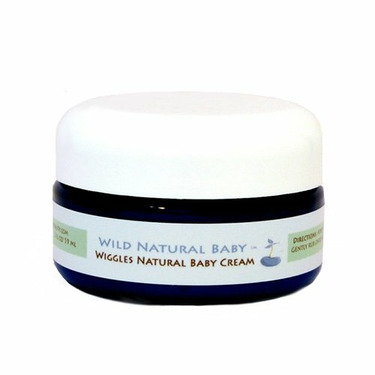 Wild Natural Baby Wiggles Natural Baby Crème - Sulfate Free, Paraben Free, Phthalate Free - 2 oz. Jar by Wild Natural Beauty