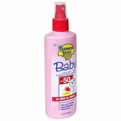 Banana Boat Baby Sunblock Spray Lotion, SPF 50 8 Oz (Pack of 3)
