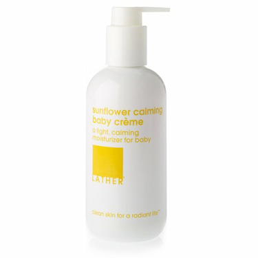 LATHER Sunflower Calming Baby Crème, 8-Ounce Bottle