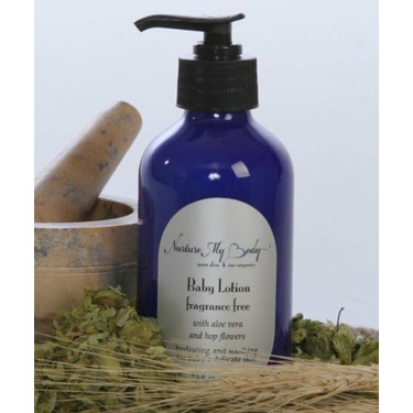 Nurture My Body Fragrance Free Organic Baby Lotion Phthalate Free for Sensitive Skin