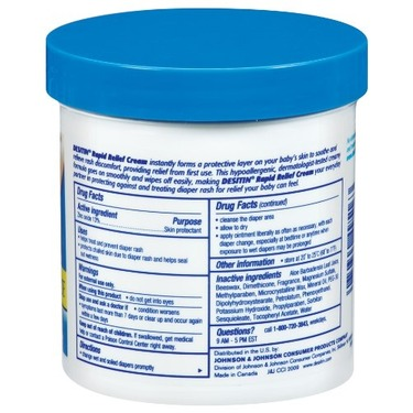 DESITIN Rapid Relief Creamy Jar, 16-Ounce (Pack of 4)