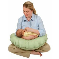 Leachco Cuddle-U - Nursing Pillow And More - Sage Pin Dot
