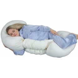 Leachco Grow To Sleep Self-Adjusting Body Pillow, Ivory