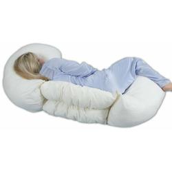 Leachco Grow To Sleep Self-Adjusting Body Pillow, Ivory