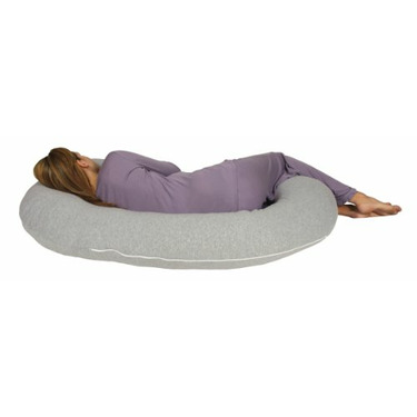 Snoogle Chic Jersey - Snoogle Replacement Cover with Zipper for Easy Use - 100% Cotton Knit - Heather Gray