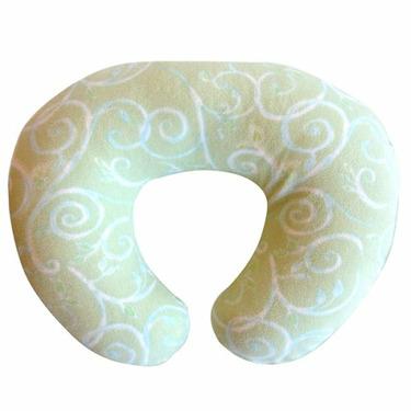 Boppy Nursing Pillow with Soothing Fleece Slipcover, Green Vine