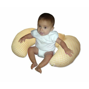 The CozyMe Pillow, Nursing And Infant Development Pillow, Yellow Gingham