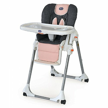 Chicco Polly Fabric Highchair With Extra Seat Pad - Bella