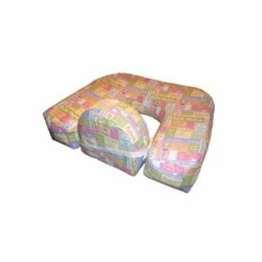 Inflatable Twin Nursing Pillow - Color Twins Print