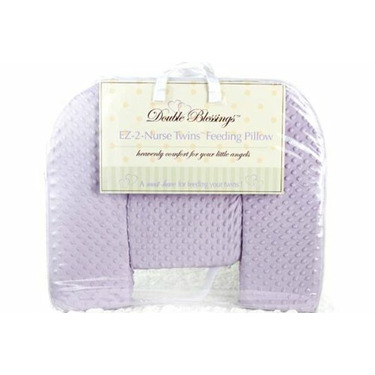 """Extra Pillow Covers for """"EZ 2 Nurse Twins"""" Pillow (Extra Plush Lavender Cover)"""