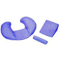 "The CozyMe Pillow ""Royal Blue Gingham Checks"""
