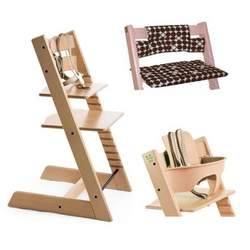 Stokke Tripp Trapp High Chair, Cushion and Baby Rail